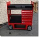 Tire Rack Cart w/Drawers 26