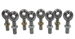 7/16 X 7/16-20 Economy 4 Link Rod End Kit With Jam Nuts
