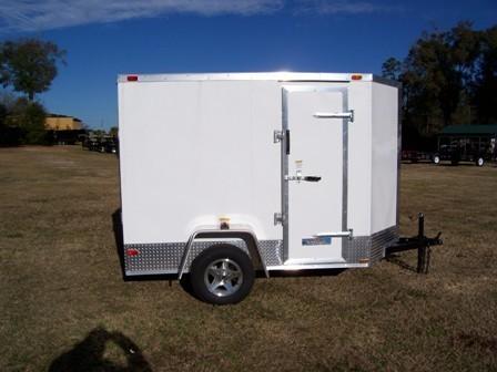 SGC 5x8 V/Nose Ramp Door Motorcycle Hauler  for Sale $0