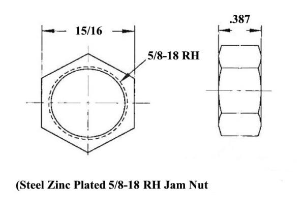 Sprint Car 1/2 X 5/8-18 Chromoly Rod End Kit With Jam Nuts  for Sale $137.40