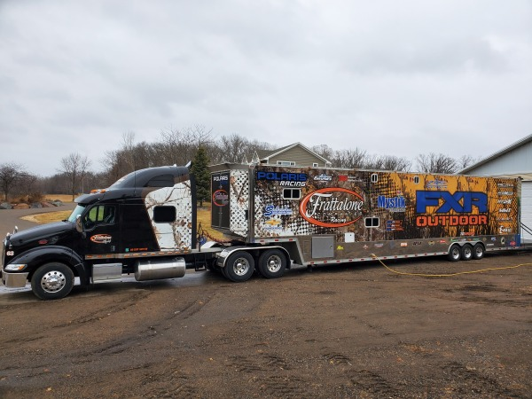 2009 53 foot trailer and 2006 Pete 389  for Sale $125,000