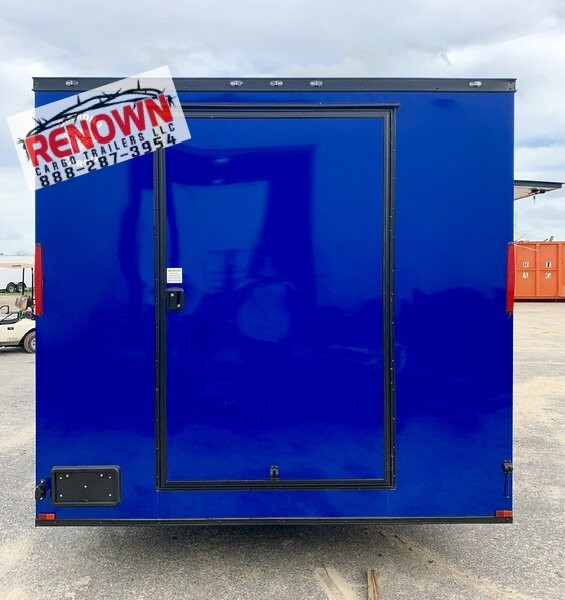 8.5x18TA Electric Blue Concession Trailer  for Sale $20,899