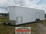8.5x28TA White Racing Trailer for Sale $23,899