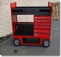 Tire Rack Cart w/Drawers 26  for sale $3,000