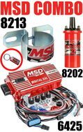 MSD 6AL Ignition Kit Digital 6425 Blaster Coil 8202 Bracket
