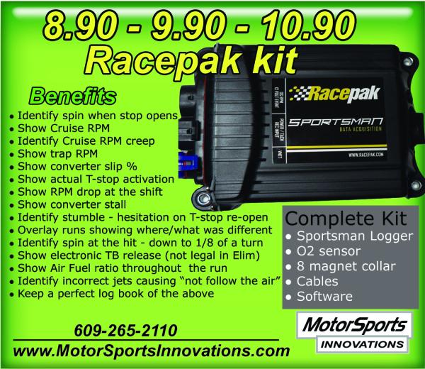 Super Gas / Street - Racepak data system  for Sale $1,650