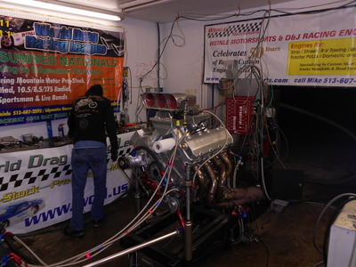 Alcohol Injected All Alum 632 cid Race Engine