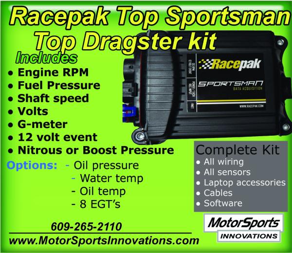 Racepak Top Dragster data logger kit  for Sale $1,620